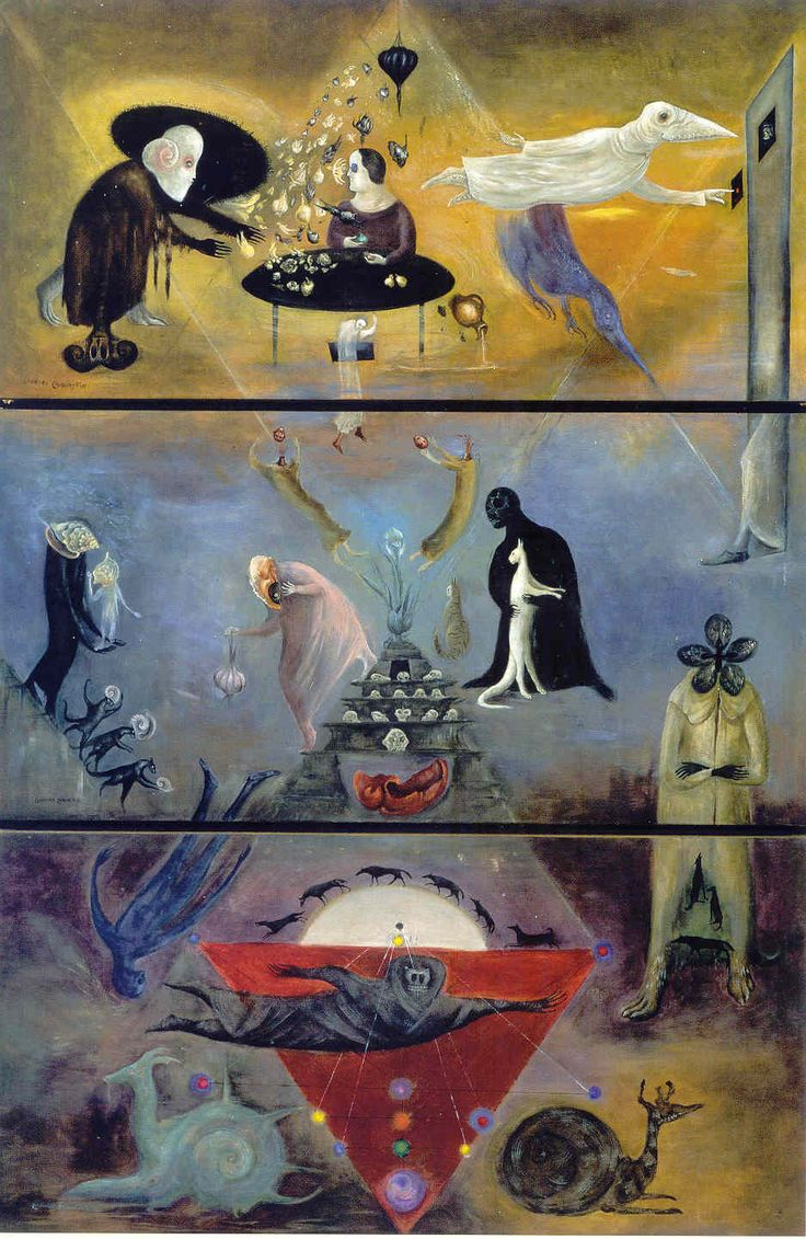 Leonora Carrington, Took My Way Down, Like a Messenger, To the Deep, 1977