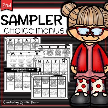 This sampler contains two math, two ELA, one writing, and one multiple intelligence choice board for second grade. These are perfect for early finishers, enrichment, additional practice, homework, and your accelerated kiddos. You can find the bundles here: Volume OneVolume Two...
