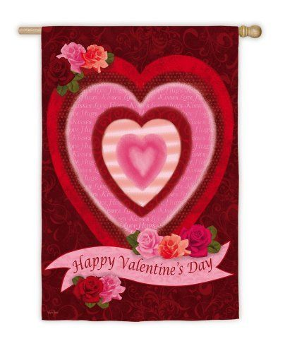 Happy Valentine's Day Electro Luminescent Garden Flag by House-Impressions. Save 29 Off!. $24.99. Features light up tubing in flag. Hearts light up and pulsate. Display your enthusiasm for the holiday. Hidden battery compartment with timer. Electro Luminescent tubing in this Valentine's day flag lights up the hearts in this design in stunning neon lights. The lights will pulsate when illuminated, giving this flag an extra bit of charm and style. Be the first in your neighborhood to sho...