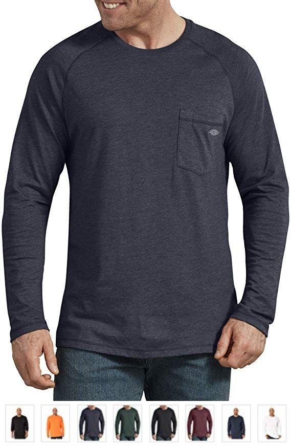 Dickies Men S Temp Iq Performance Cooling Long Sleeve T Shirt Big