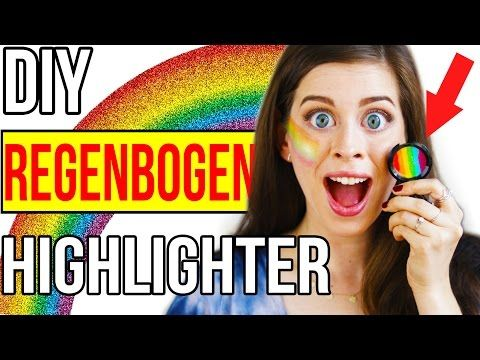 KRASSER DIY PINTEREST REGENBOGEN HIGHLIGHTER im LIVE TEST!! 1000€ UNICORN MAKEUP + ERGEBNIS! - YouTube