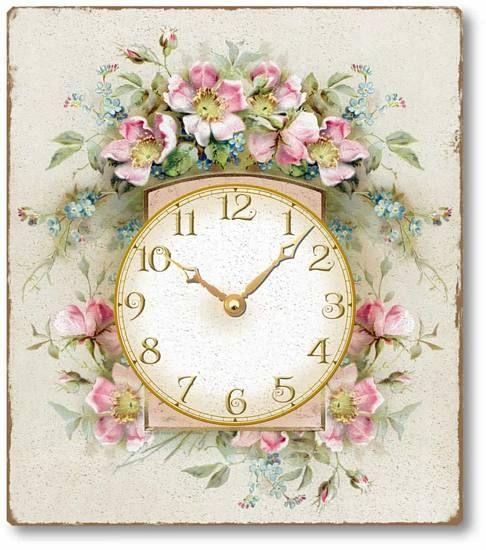 Vintage Style Romantic Roses Clock