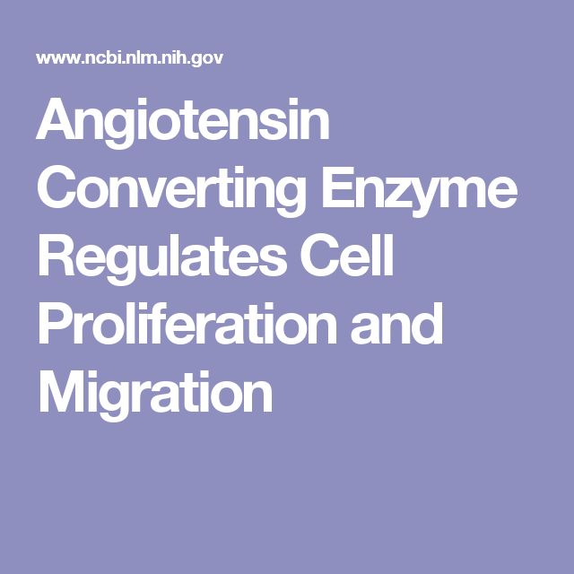 Angiotensin Converting Enzyme Regulates Cell Proliferation and Migration
