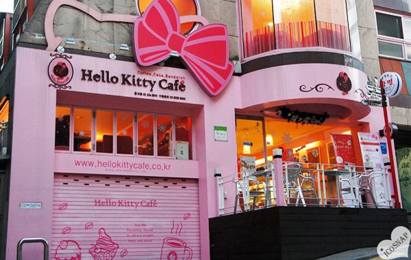 The Hello Kitty Cafe in Hongdae Seoul - new level 2nd floor!