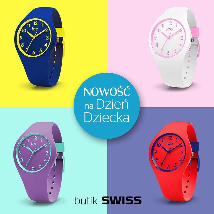 NOWOŚĆ z okazji Dnia Dziecka. Super kolorowa kolekcja Ola Kids od Ice-Watch. Spotkajmy się w butiku SWISS.