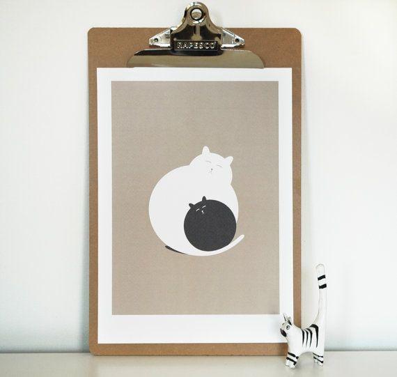 Artikel ähnlich Katze Bild, Katzenliebhaber Kunst