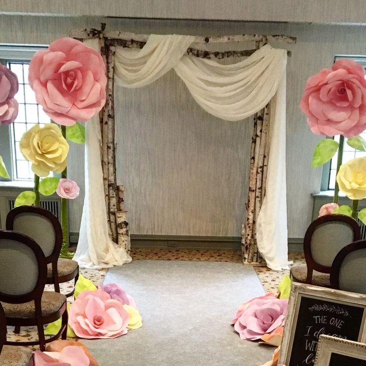 The birch arch by @Rebecca Chan Weddings @Estates f Sunnybrook www.chuppah.ca