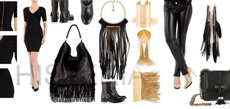 Your style is going to love Elisabetta Franchi Fall collection: mix & match fringes, chains and leather!