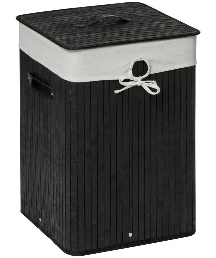 Buy Premier Housewares Square Laundry Hamper - Black at Argos.co.uk - Your Online Shop for Linen baskets and laundry bins.