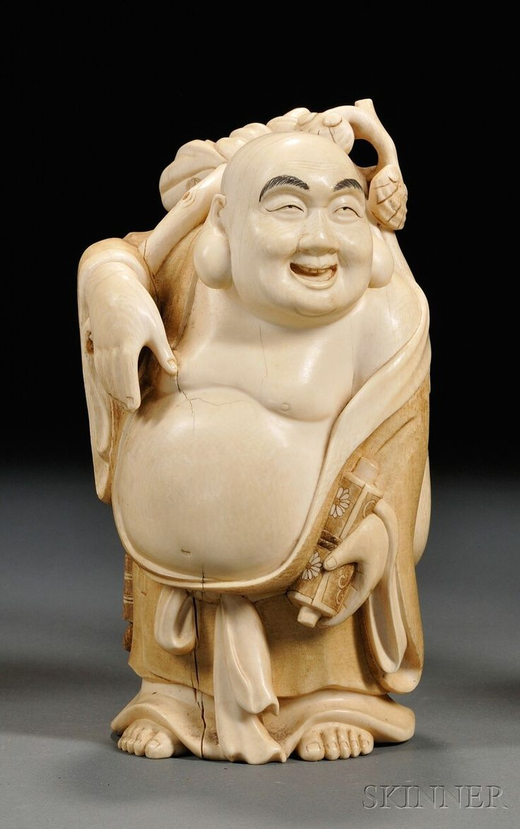 Images of hotei ivory carving china standing figure