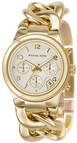 Michael Kors Quartz Gold Link WatchFashion, Style, Jewelry, Michael Kors Watches, Gold, Accessories, Bracelets Watches, Michaelkors, Stainless Steel