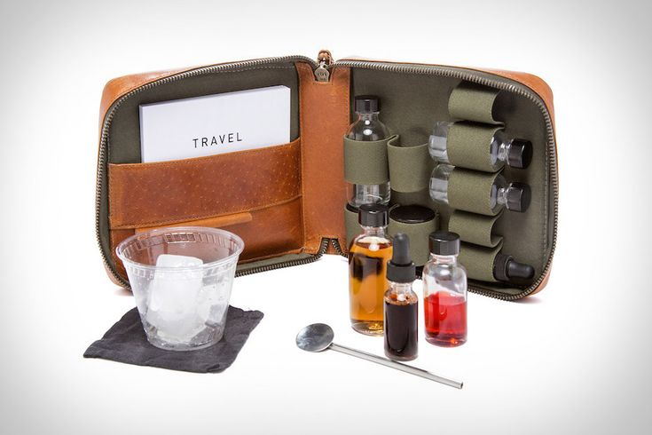 You don't need to take a whole bottle of booze with you just to make a few drinks. With the Stephen Kenn Travel Cocktail Kit, you'll have everything you need in one handy pouch. The bag itself is made from...