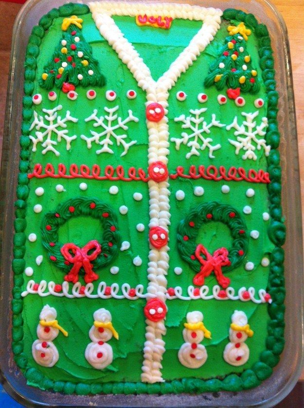 The Ugliest Sweater Cakes You've Ever Seen