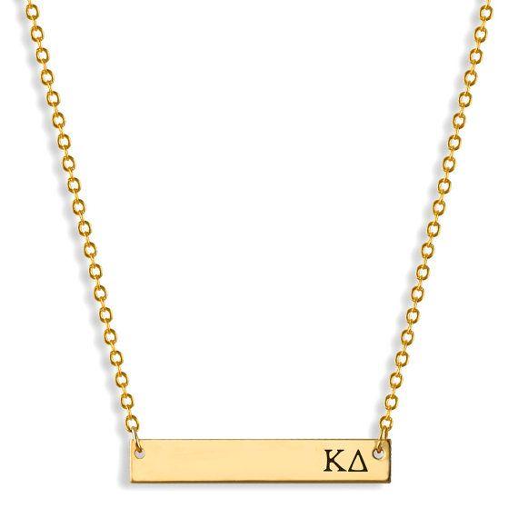 Kappa Delta Sorority Bar Necklace / Kappa by AListGreekDesigns