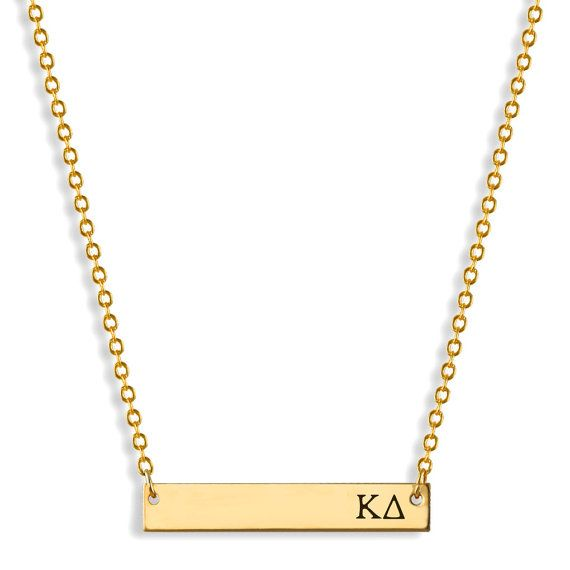 Kappa Delta Sorority Bar Necklace / Kappa by AListGreekDesigns