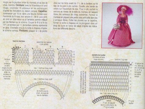 labores de esther. todo para barbie: Vestido rosa para barbie