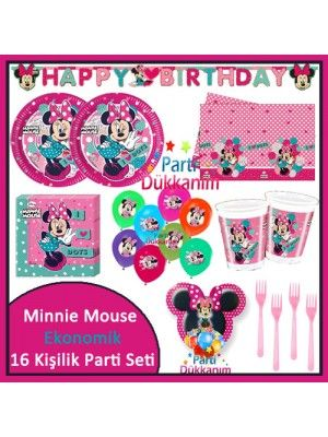 Minnie Mouse Süper Parti Seti (16 Kişillik)