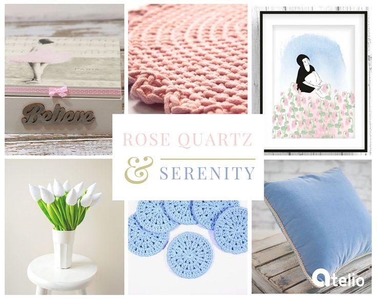 Pantone 2016 - Produkty dla domu wg Atelio  #rosequartz #serenity #interior #kolory #modne #2016