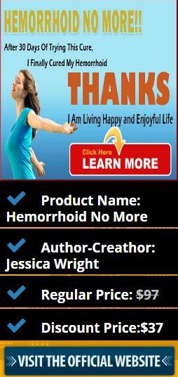 Product Name: Hemorrhoid No More Author-Creathor: Jessica Wright Regular Price: $97 Discount Price:$37