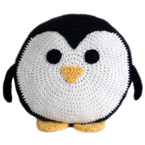 Penguin Pillow crochet pattern  - $4.95
