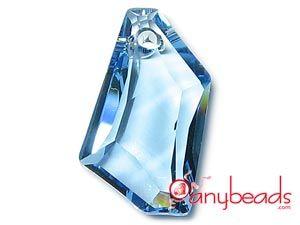 Aquamarine Swarovski Crystal Elements 6670 Pendant 24mm  #aquamarine #aqua #Swarovski #crystal #pendant #6670 #jewelrysupplies #anybeads