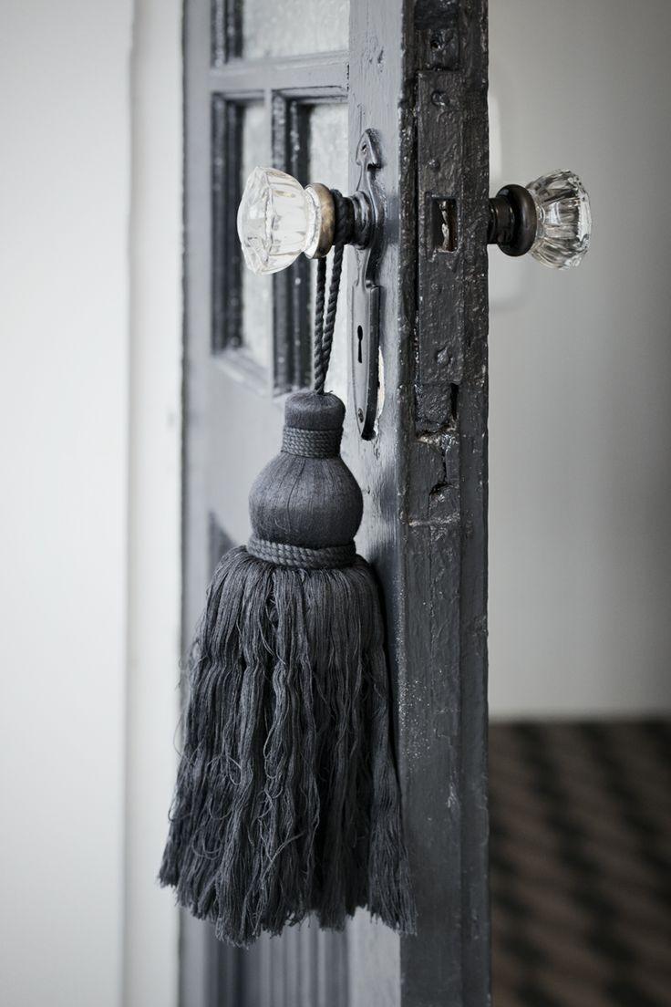 Crystal door knobs on french doors - Grey Crystal Door Knobs Tassel