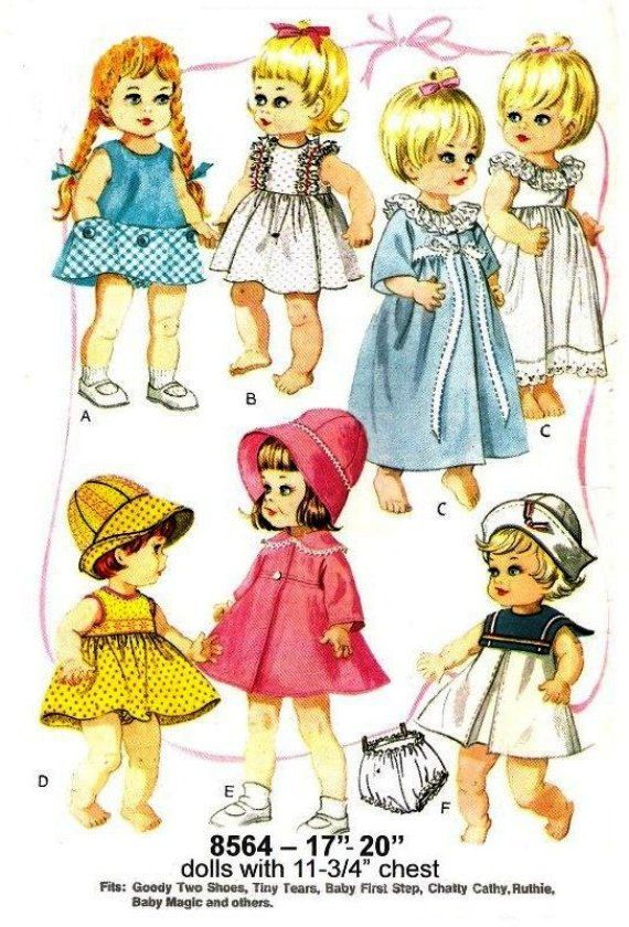 Sewing Pattern  Chatty Cathy Doll or similar 17 to 20 in doll