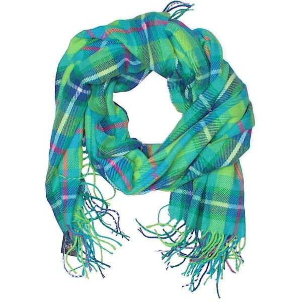 Hollister Scarf ($12) ❤ liked on Polyvore featuring accessories, scarves, green, green scarves and green shawl