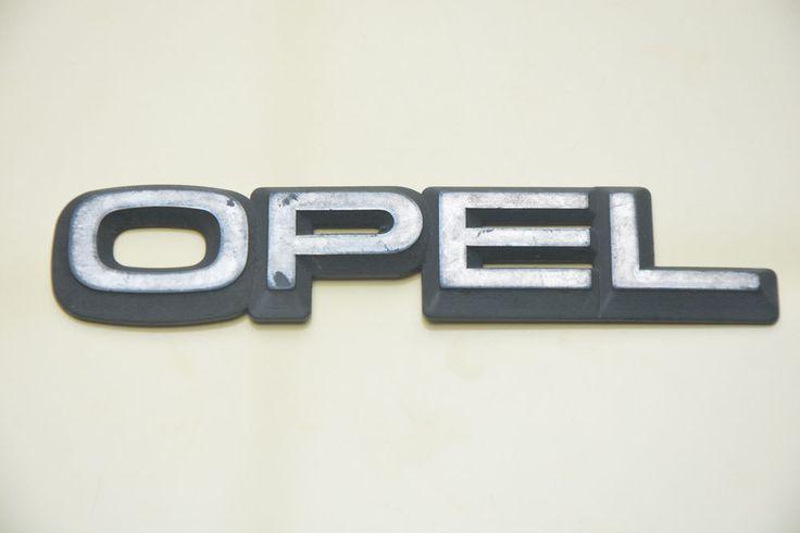 USED ORIGINAL OPEL  REAR NAMEPLATE PLASTIC SIGN LOGO  BADGE EMBLEM #OPEL