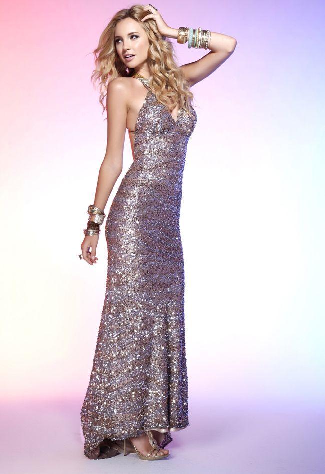image Callie black formal gown holder