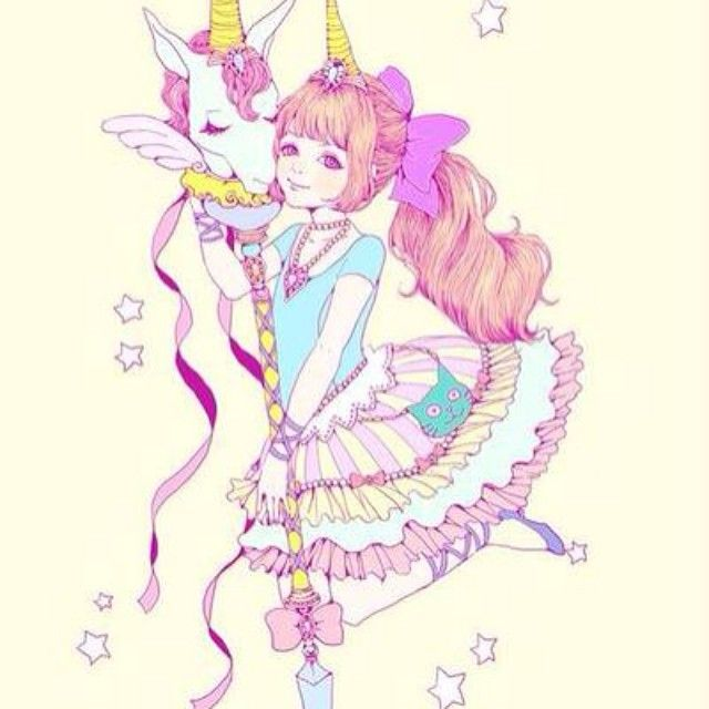 Unicorn. #cute #anime #unicorn #kawaii