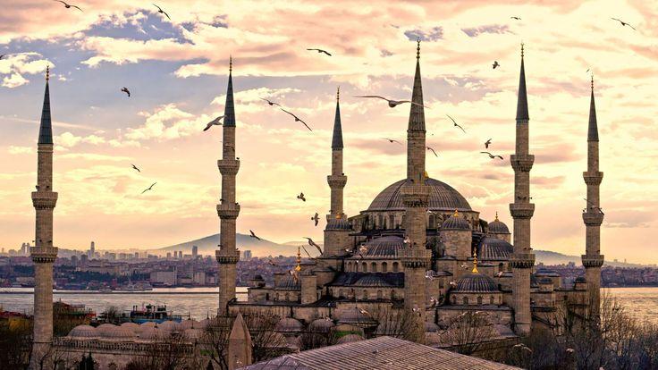 Голубая мечеть, Стамбул, Турция, Туризм, Путешествие, Sultan Ahmed Mosque, Istanbul, Turkey, Travel, Tourism