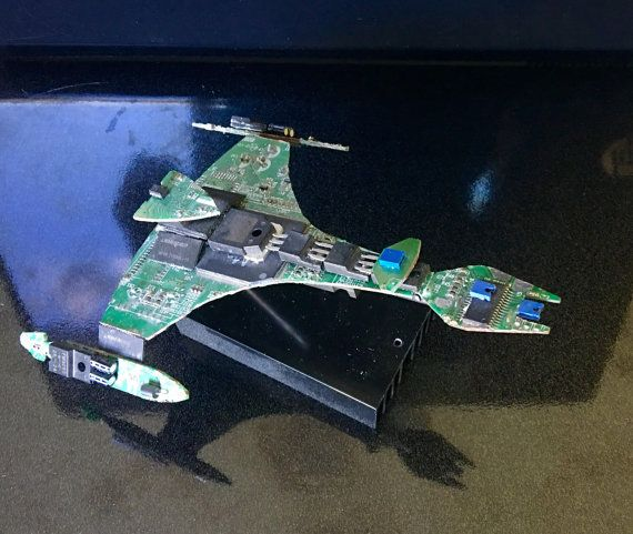 Klingon Vor'cha Class Attack Cruiser from a fried Dell Motherboard