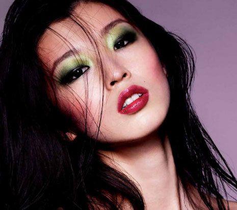 Bold Gradient Green Eyeshadow