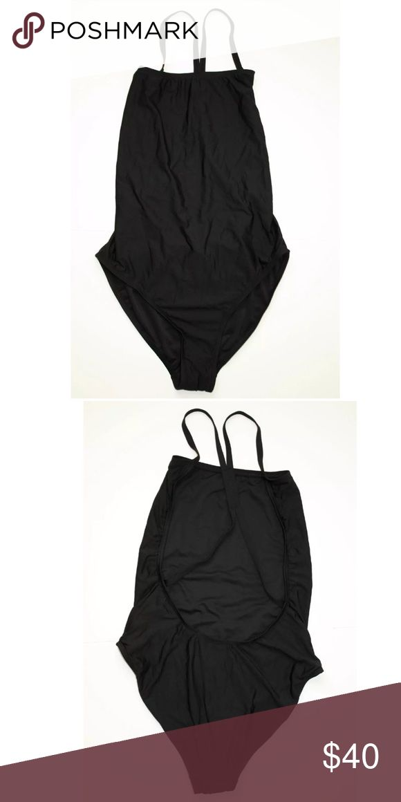 """J Crew Black Cross Back Tank 1 piece Swimsuit Sz 6 J Crew Black Cross Back Tank 1 piece Swimsuit Sz 6.  Brand New with liner.  No tags.  Retailed fir $79. I bought online but it's too big and I need a size 4.  For reference I'm 5'2"""", 127lbs, 34dd (32f) bust. J. Crew Swim One Pieces"""