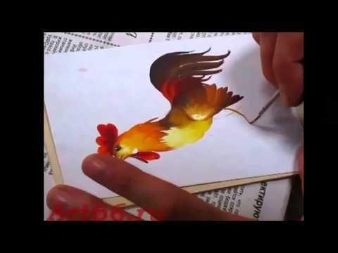Нижнетагильская роспись. Основы рисования птиц. Часть 2