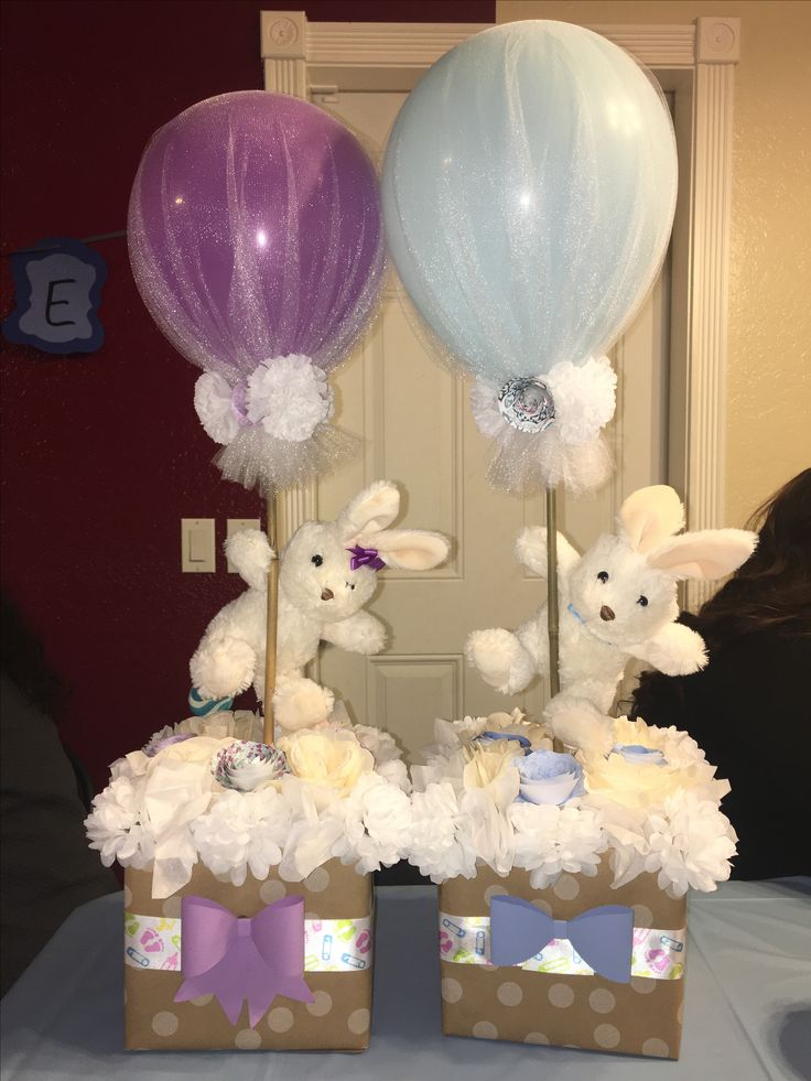 Gender reveal center pieces