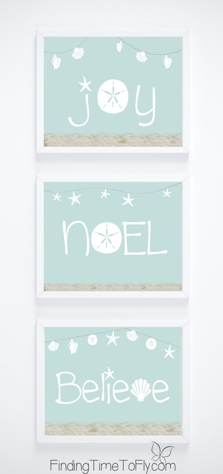 Perfect prints for a Beachy Coastal Christmas theme! Set of 3 prints in 8.5x11 and 5x7 sizes.