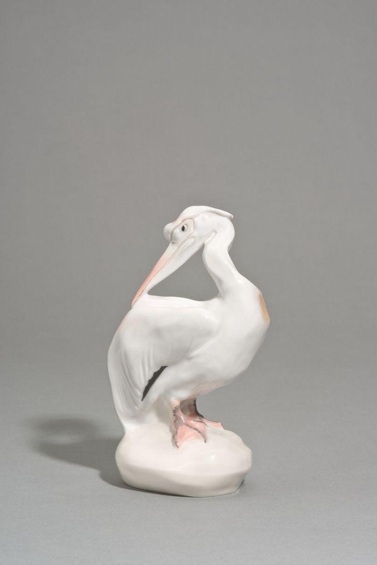 Pelikan (Modellnummer W 142) | Entwurf: Paul Walther, Ausführung: Königliche Porzellanmanufaktur Meißen | Bildindex der Kunst & Architektur