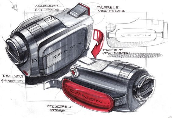Canon camcorder sketch #productdesign
