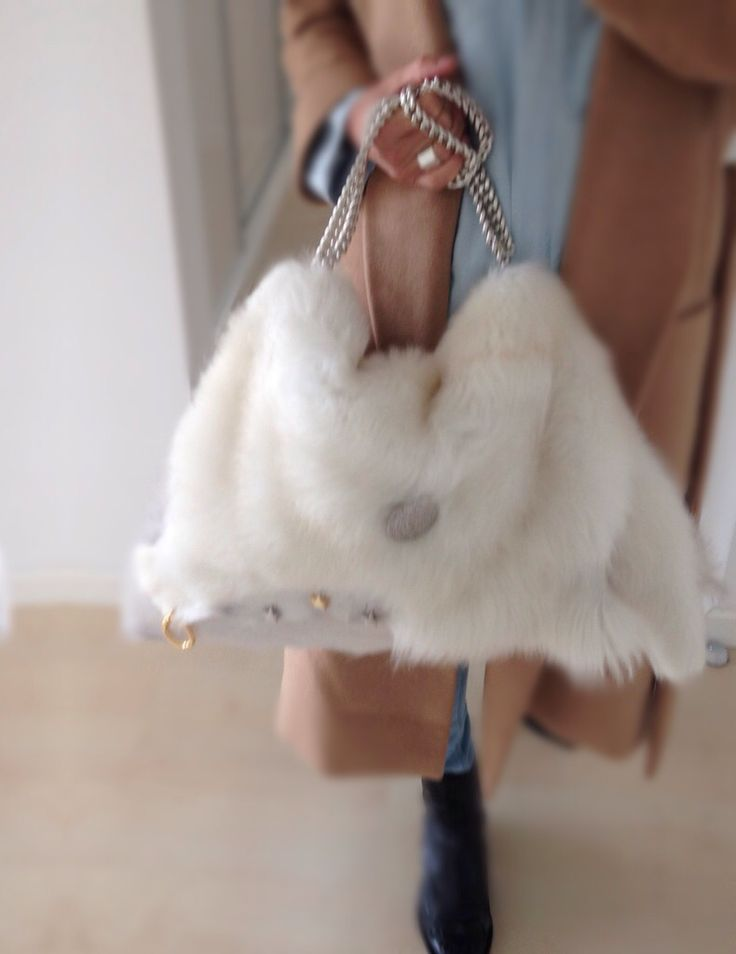 White. Winter. Bags