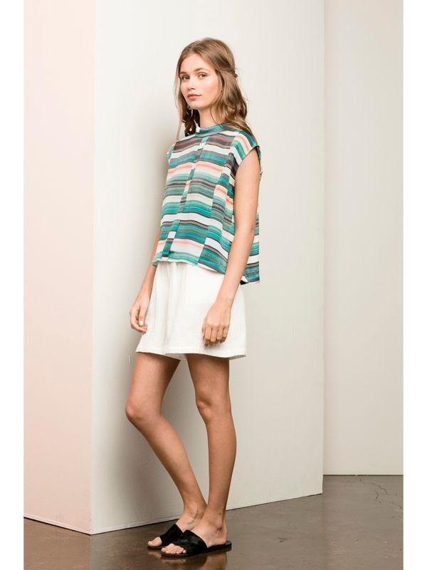 Mesop Azure Crop Shirt & Asana Shorts   Summer 2016 Collection 'Gaia' www.mesop.com