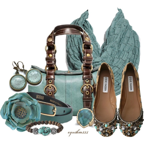 """Turquoise Accessories"" by cynthia335 on Polyvore"