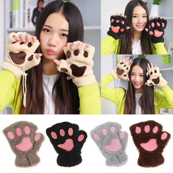 Women's Cat Paw Mittens/Gloves