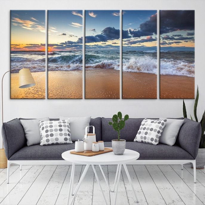 86988 - Sea and Beach Wall Art Large Canvas Print