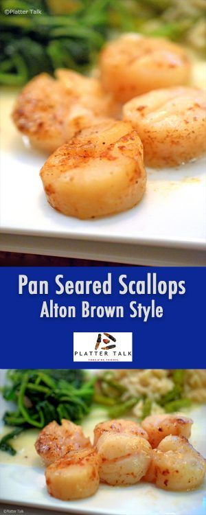1000 ideas about pan seared scallops on pinterest for Alton brown oat cuisine