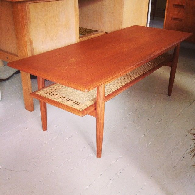 Parker coffee table. 2 available. This one is at #vamptvintagedesignNORTH #Newport #parkerfurniture