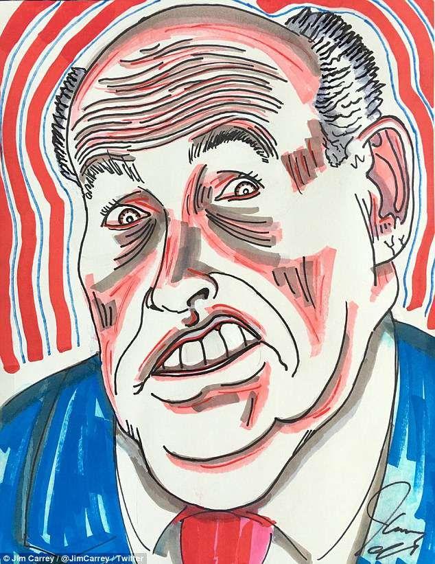Jim Carrey Art Bytesdaily Blogspot Com Jim Carrey Rudy Giuliani Caricature
