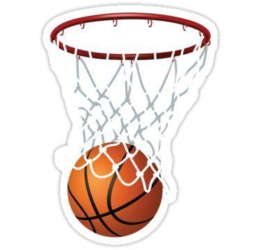 Basketball und Hoop Net Aufkleber   – Products