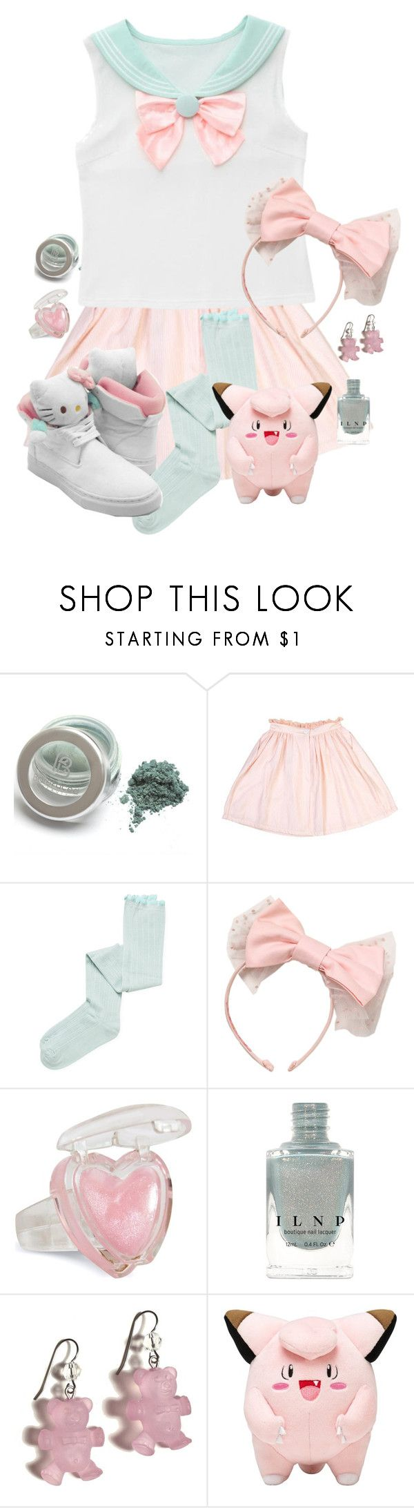 """Pastel Cutie 🎀"" by adventuretimekitty ❤ liked on Polyvore featuring Limedrop, Intimately Free People, Hello Kitty, Tarina Tarantino, Pink, Blue and kawaii"